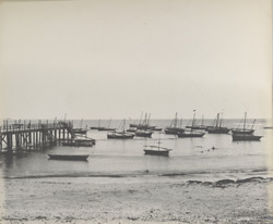 Veraval Harbour [with local sailing vessels at anchor]